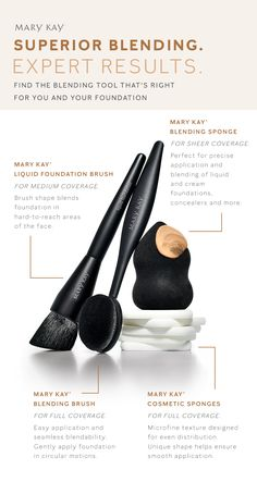 It's makeup tool time! From foundation brushes to sponges, our expert blending tools will get you the look and coverage you crave. | Mary Kay