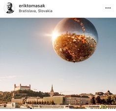 Bratislava, Gate, Christmas Bulbs, Clouds, Celestial, Holiday Decor, Travel, Outdoor, Outdoors