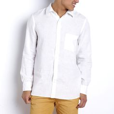 Chemise manches longues, pur lin, Edeis