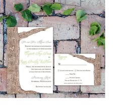 Printable Watercolor Tree Invitation by ChirpPaperie on Etsy