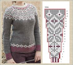 Lace Knitting Patterns, Knitting Charts, Knitting Stitches, Baby Knitting, Icelandic Sweaters, Knitwear Fashion, Fair Isle Knitting, Double Knitting, Diy Clothes