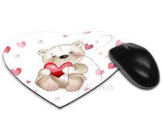 Tappetino mouse cuore con orsetto