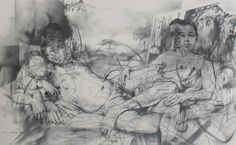 Untitled by Jenny Saville on Curiator, the world's biggest collaborative art collection. Abstract Painters, Abstract Drawings, Art Drawings Sketches, Life Drawing, Figure Drawing, Jenny Saville Paintings, Mother Art, Guernica, Digital Museum