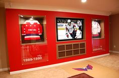 This would be an awesome sports room...