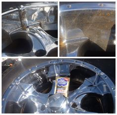 Check out the rust removed from these tires rims by Bar Keepers Friend