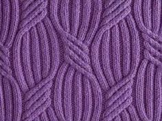 Sweeping ribs cabled stitch pattern