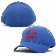 10fe55d4def Let everyone know which MLB team you love with this Chicago Cubs 1955 Fitted  Cap from American Needle! The hat is all royal blue and features a  throwback ...