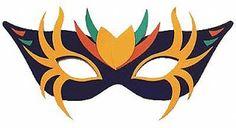 Molde Máscara de Carnaval