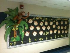 Welcome back to school bulletin board. We're WILD about learning!