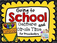 First Week Centers and Circle Time - Play to Learn $6 for a 90-page unit Like the good choices, bad choices sort