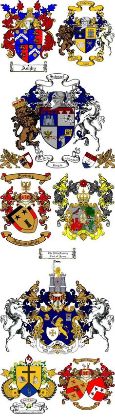 Personal or Family Coat of Arms Samples