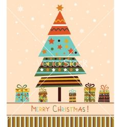 Christmas tree with gifts vector - by ladoga on VectorStock®