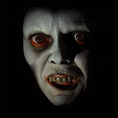 "Demon face from ""The Exorcist"". This image haunted my dreams for years."