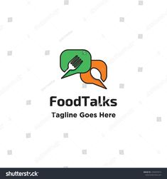 negative space fork and spoon in callout shapes for food talk logo icon vector inspiration Sound Logo, Clock Sound, Best Logo Design, Logo Food, Negative Space, Cool Logo, Vector File, Fork, Spoon