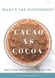 What is cacao? What is the difference between cacao vs cocoa? Is cacao powder or cocoa powder healthier? Cacao vs cocoa and why it matters which you use. Cacao Powder Benefits, Raw Cacao Powder, Healthy Food Swaps, Healthy Recipes, Cacao Recipes, Food Facts, Base Foods, Chocolate Flavors, Diet And Nutrition