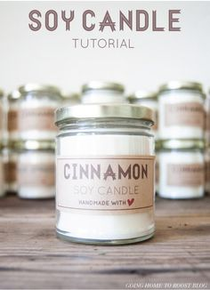 soy candle tutorial + labels