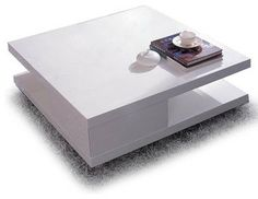 MODERN WHITE SQUARE COFFEE TABLE MITO modern coffee tables