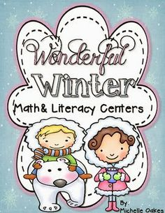 math and literacy centers plus writing activities for winter. All common core aligned.