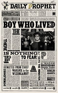 Harry Potter The Daily Prophet Newspaper Boy Who Lived Art Print/Poster Harry Potter Halloween, Harry Potter Diy, Harry Potter Jornal, Harry Potter Newspaper, Magie Harry Potter, Harry Potter Fiesta, Harry Potter Thema, Theme Harry Potter, Harry Potter Bedroom