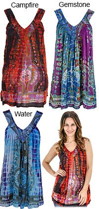 I love these! - Tie Dye Spirit Sleeveless Top at The Animal Rescue Site