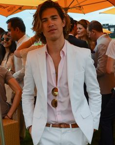White Suit | Veuve Clicquot Polo Classic 2012