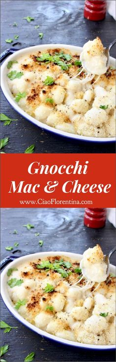 Creamy Gnocchi Mac and Cheese with Fontina and Gruyere ❤ | CiaoFlorentina.com @CiaoFlorentina
