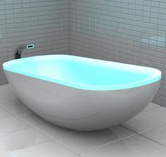 Fesselnd Glowing Bathtub Changes Color To The Beats Of Music! Coolest Tub Ever! I  Want One Soon Bad!