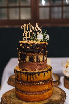 Photography : Illuminate Photography | Catering : Basics Catering | Cake : Gimmene Read More on SMP: http://www.stylemepretty.com/destination-weddings/2014/09/22/rustic-chic-south-african-warehouse-wedding-at-blue-bird-garage/