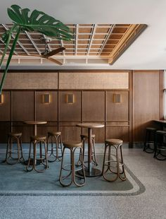 See the shortlisted bars for the 2019 Eat Drink Design Awards - Vogue Australia Bar Design, Design Studio, Design Ideas, Commercial Design, Commercial Interiors, Cafe Restaurant, Restaurant Design, Bar Bistro, Cafe Interior