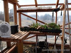 How to seedlings Greenhouse - Greenhouse Heater - Perennials and Natives seeddlings Greenhouse Staging, Greenhouse Heaters, Greenhouse Frame, Greenhouse Supplies, Aquaponics Greenhouse, Greenhouse Interiors, Backyard Greenhouse, Greenhouse Growing, Small Greenhouse