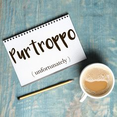 Parola del giorno / Word of the day: Purtroppo (unfortunately). Purtroppo il viaggio è stato annullato. = Unfortunately the trip has been cancelled. Learn more about this word and see example phrases by visiting our website! #italian #italiano #italianlanguage #italianlessons Italian Grammar, Italian Phrases, Italian Quotes, Italian Language, Korean Language, Japanese Language, Italian Vocabulary, English Vocabulary, English Grammar