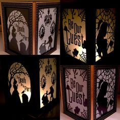 Haunted Mansion/Beauty and the Beast Mashup by PracPerfCrafts Beauty And Beast Wedding, Beauty And The Beast, Lanterns Decor, Paper Lanterns, Holidays Halloween, Halloween Themes, Fun Crafts, Paper Crafts, Wood Craft Patterns