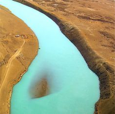 """""""Blue river"""" - Flying to El Calafate, Patagonia - Argentina. WOW!"""