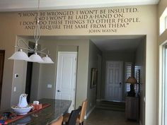 What a great reminder!  Uppercase what inspires you! #inspirewendy #uppercaseliving #vinyl #johnwayne