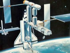 Space Station Freedom 1984 Concept
