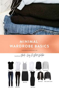 Minimal Wardrobe Basics in black, white, and grey. Mini Capsule Wardrobe, Fall-Winter 2017/2018 #wardrobebasicsfall2017