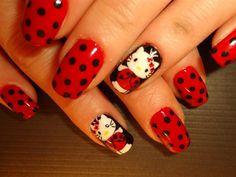 18 Best Lady Bug Nails Images On Pinterest Ladybug Nail Art