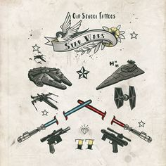 Paulo Capdeville - Star Wars Old School Tatoos 7