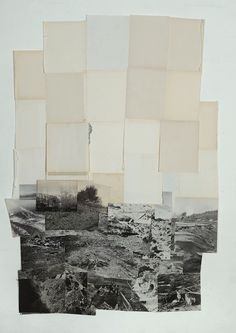 Augenweide - Dieuwke Spaans, Landscape, mixed media / collage,...