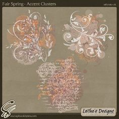 Fair Spring - Accent Clusters :: Empherals & Clusters :: Embellishments :: SCRAPBOOK-BYTES