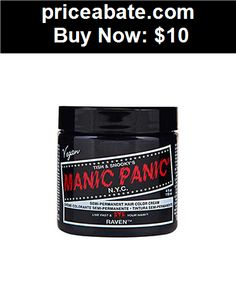 Hair-Color: Manic Panic Semi Permanent Hair Color Cream Raven 4 oz - BUY IT NOW ONLY $10
