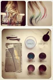 cabelos lindos coloridos nas pontas - Pesquisa Google