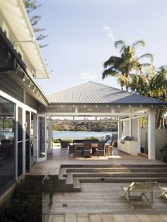 Outdoor entertaining area at the beach house Outdoor Areas, Outdoor Rooms, Outdoor Living, Outdoor Barbeque Area, Outdoor Lounge, Indoor Outdoor, Porches, Living Pool, Casa Patio