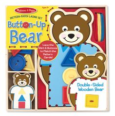 Pattern-Match Lacing Set - Button-Up Bear | Best Toys for 4 year olds | Melissa and Doug