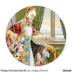 Vintage Christmas Saint Nicholas
