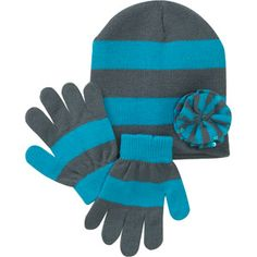 Girls' Beanie and Gloves Set