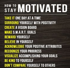 How To Stay Motivated - http://www.top.me/fun-fit/how-to-stay-motivated-4786.html
