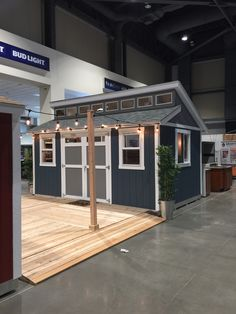 Before you turn a corner of your garage into your man cave, think about adding a new building to your backyard!