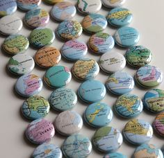 Custom Map Magnets/Pinback Buttons , originally uploaded by cutiepie company . Badge Maker, Button Maker, Map Pictures, Diy Magnets, Button Badge, Pin Button, Quick Crafts, World Crafts, Badge Design