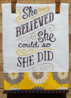 She believed she could... by seechriscreate on Etsy